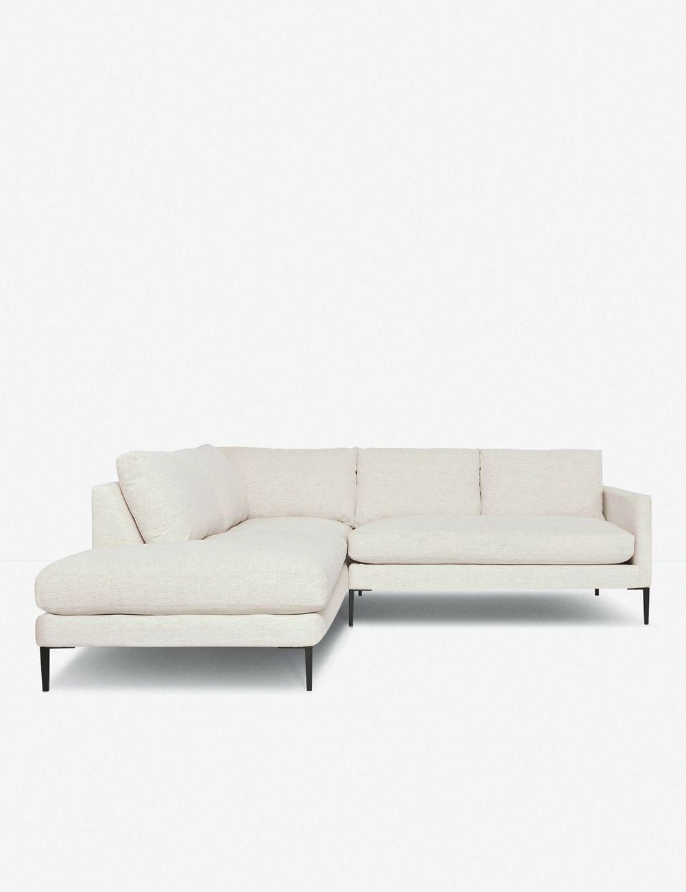 Allisen Left-Facing Bumper Sectional Sofa, Sand