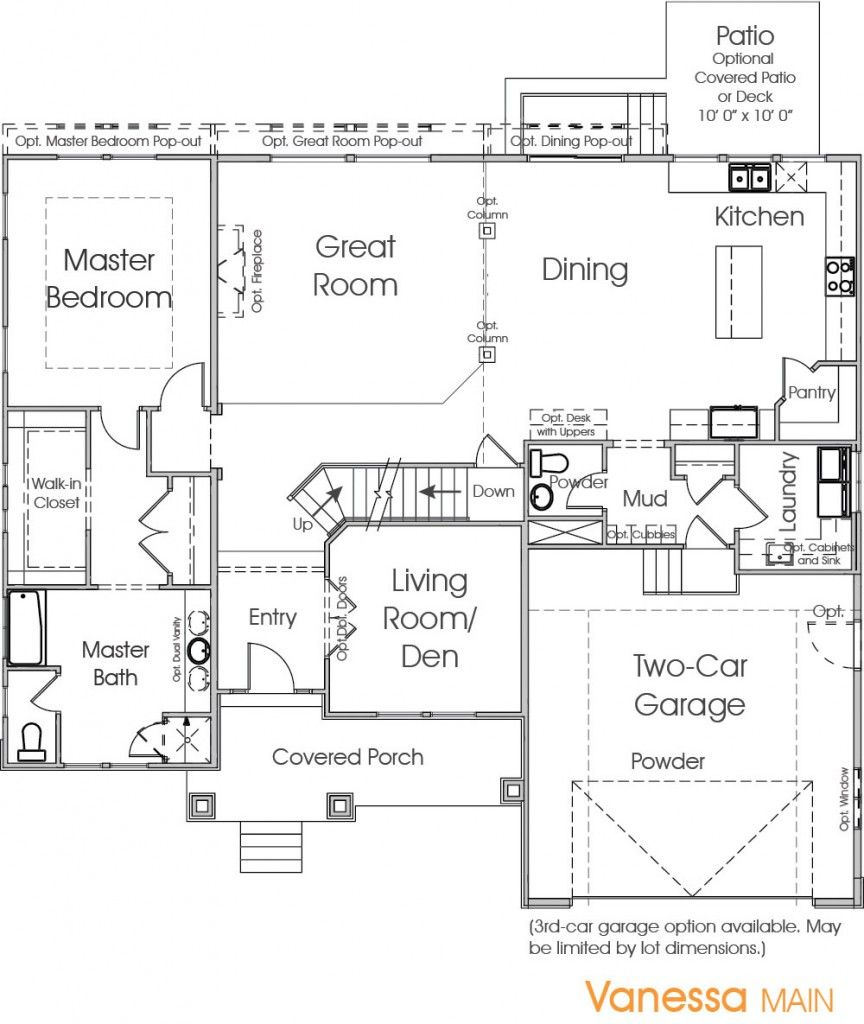 Vanessa Edge Homes Floor Plans How To Plan House Floor Plans