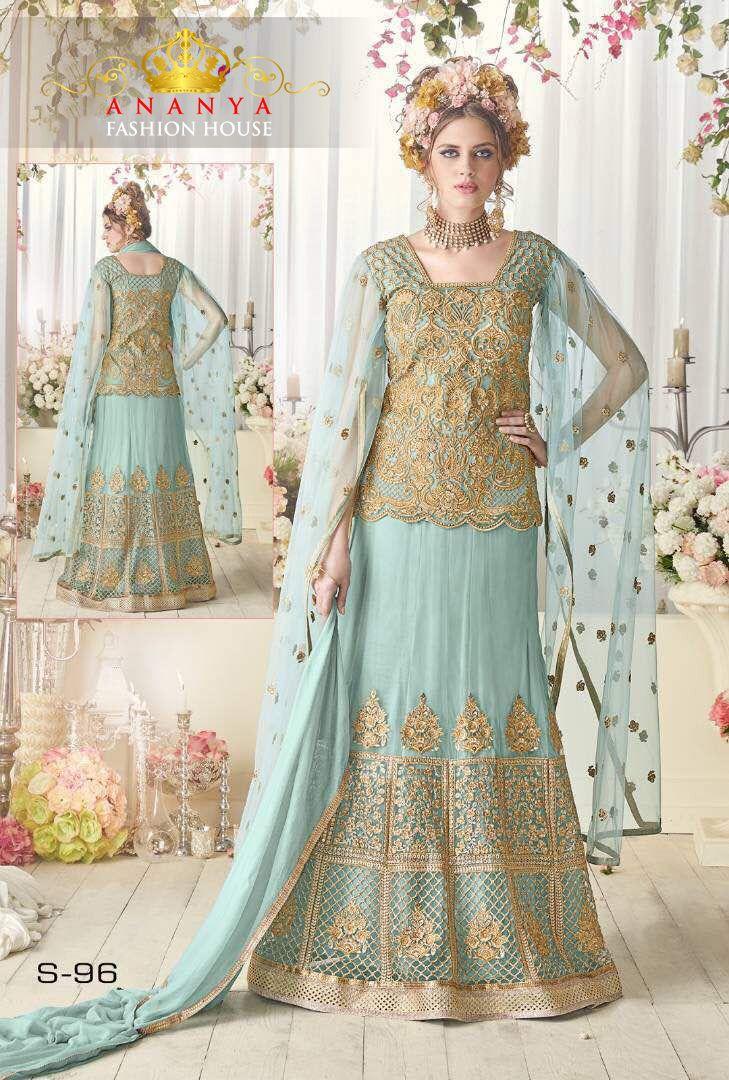 33b63a0dc9 Magnificent #Mint #Pastel #Color #Beautiful #Designer #Salwar ...