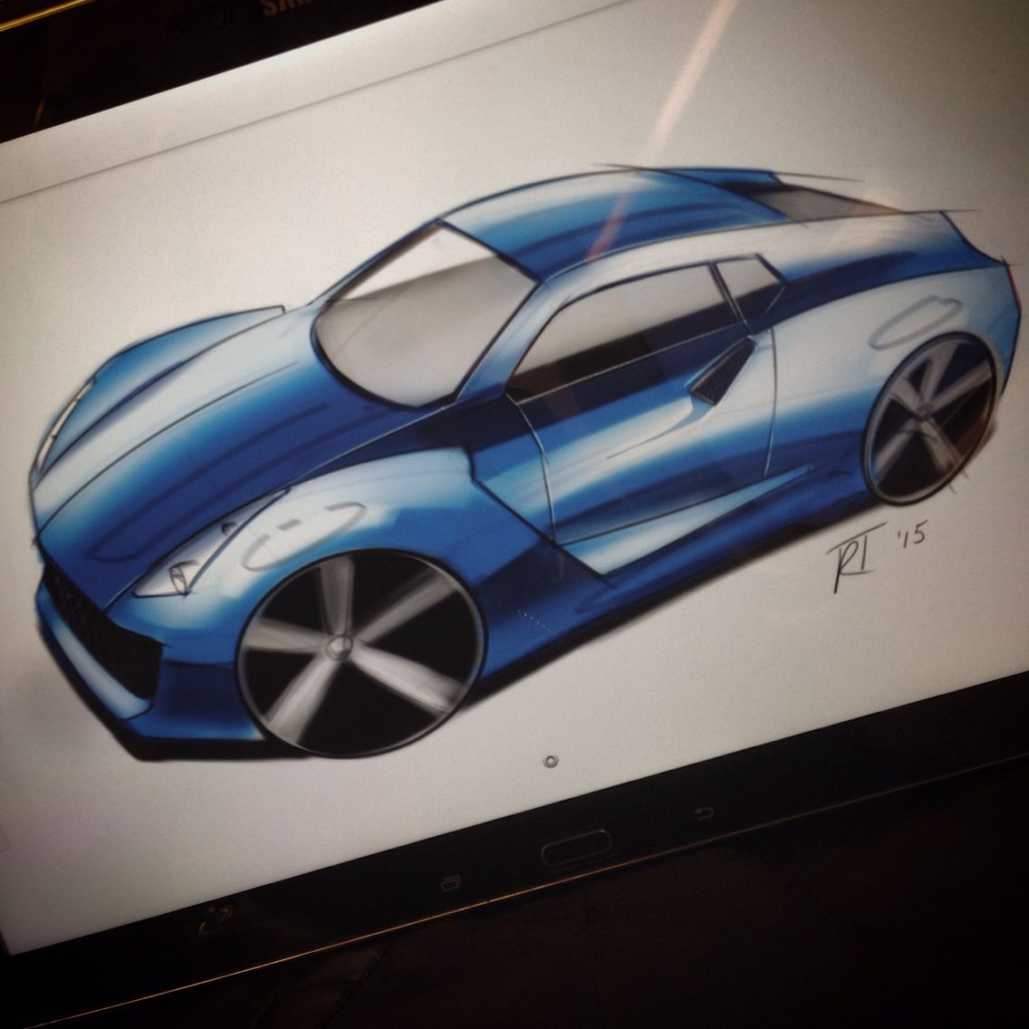 #sketch #sketchaday #sketchbook #drawing #concept #car #cardesign #rendering #industrialdesign #cardesignerscommunity by Remco Timmer on instagram