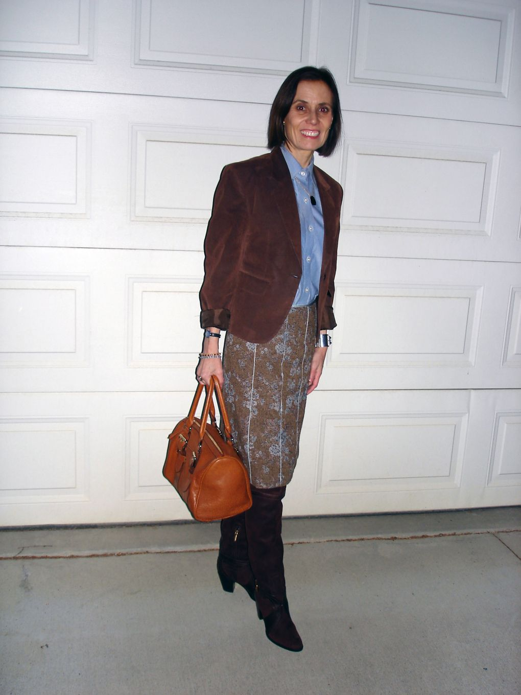21db3c7c93db How not to look matronly when wearing tweed over 40  fashionover40   styleover40