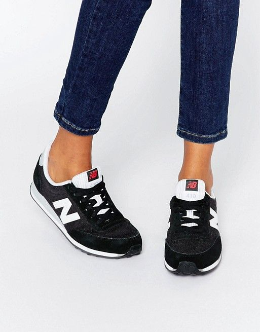 2932761ac0 New Balance 410 Black And White Trainers