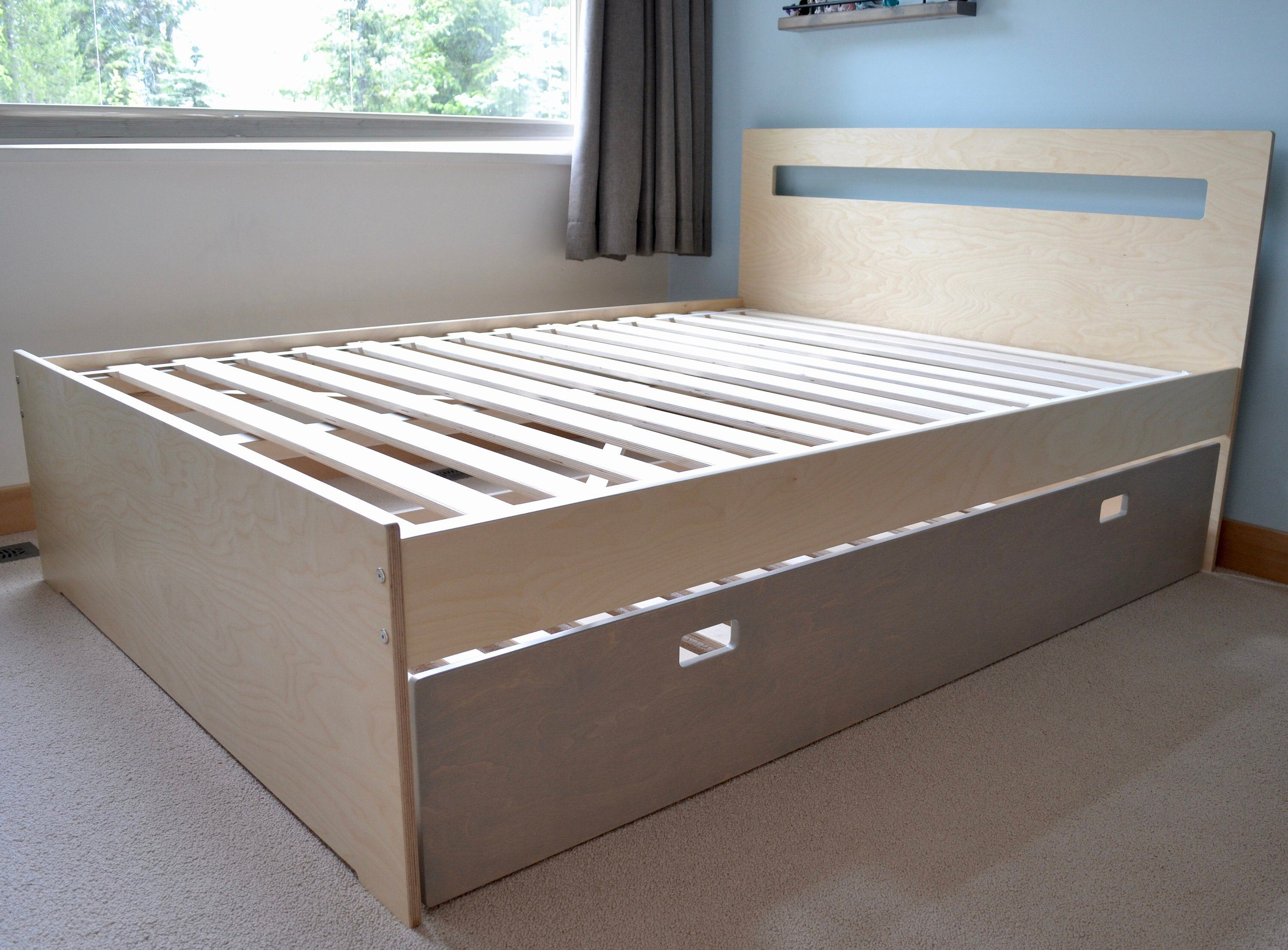 Queen Bed With Twin Trundle Etsy Twin Trundle Modern Queen Bed Queen Trundle Bed