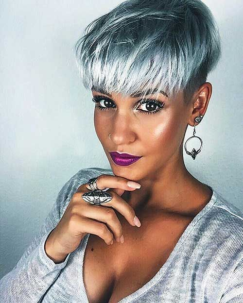 23 Short Silver Colored Hair Must-Try in 2017 | Hair coloring ...
