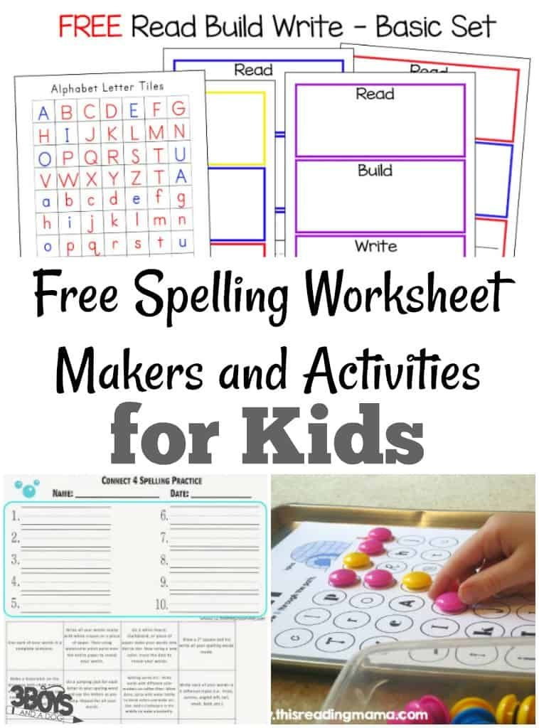 Free Spelling Worksheet Makers and Activities | Spelling ...