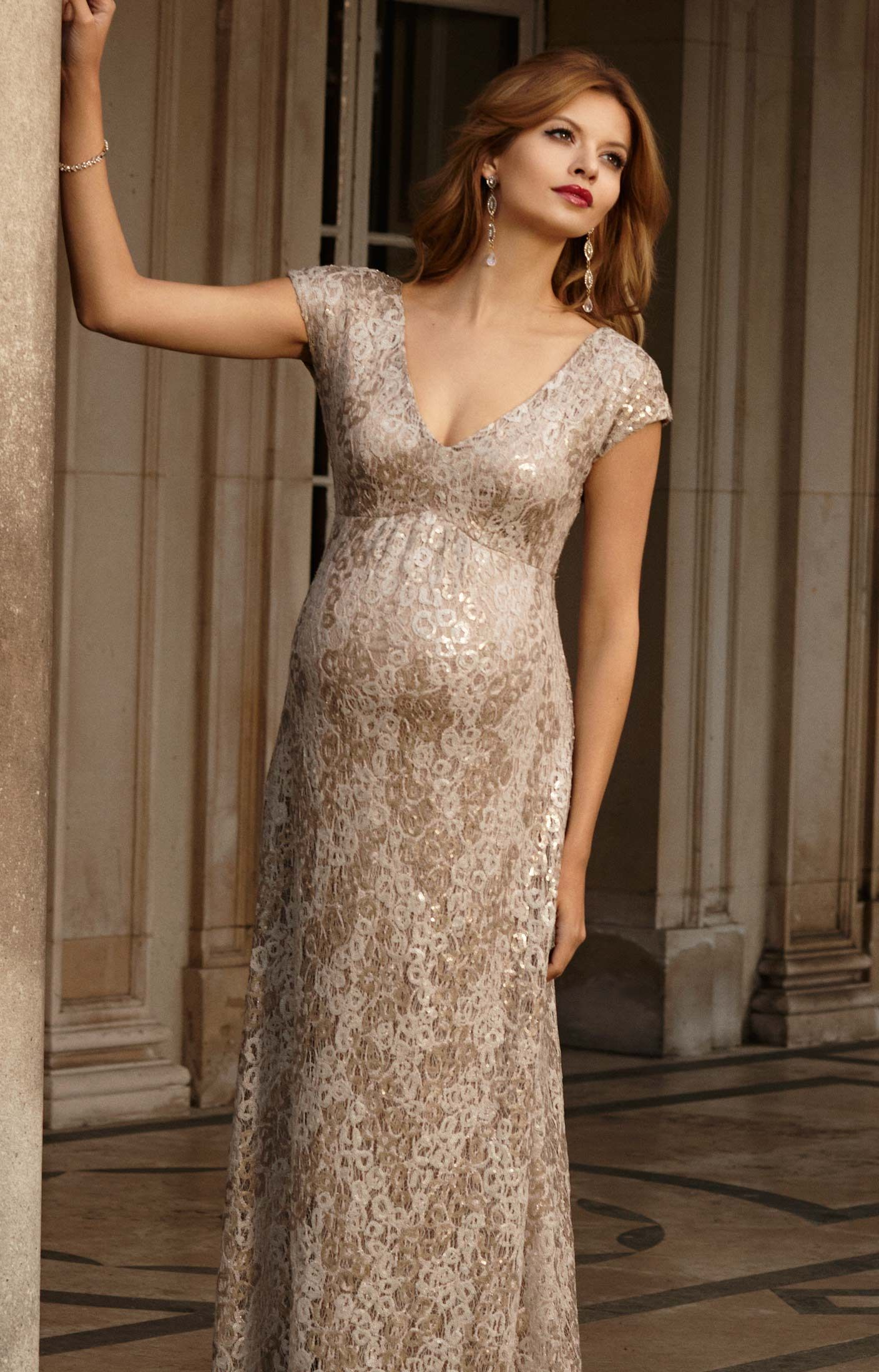 Carmen Gown Maternity Gowns Tiffany Rose And Gold Rush