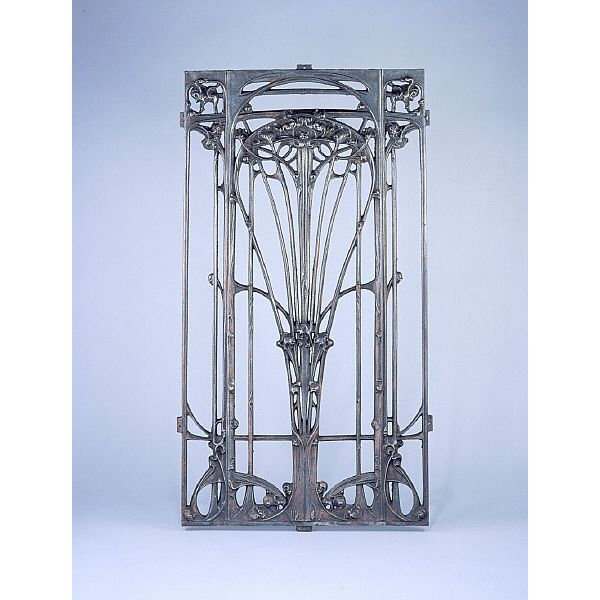 Hector Guimard art nouveau metal door grille, <1907. (Collection of St Louis Art Museum)