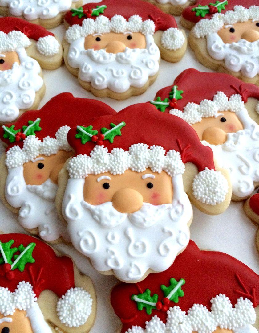 Santa Christmas Cookies Cute Food And Drink Ideas Christmas