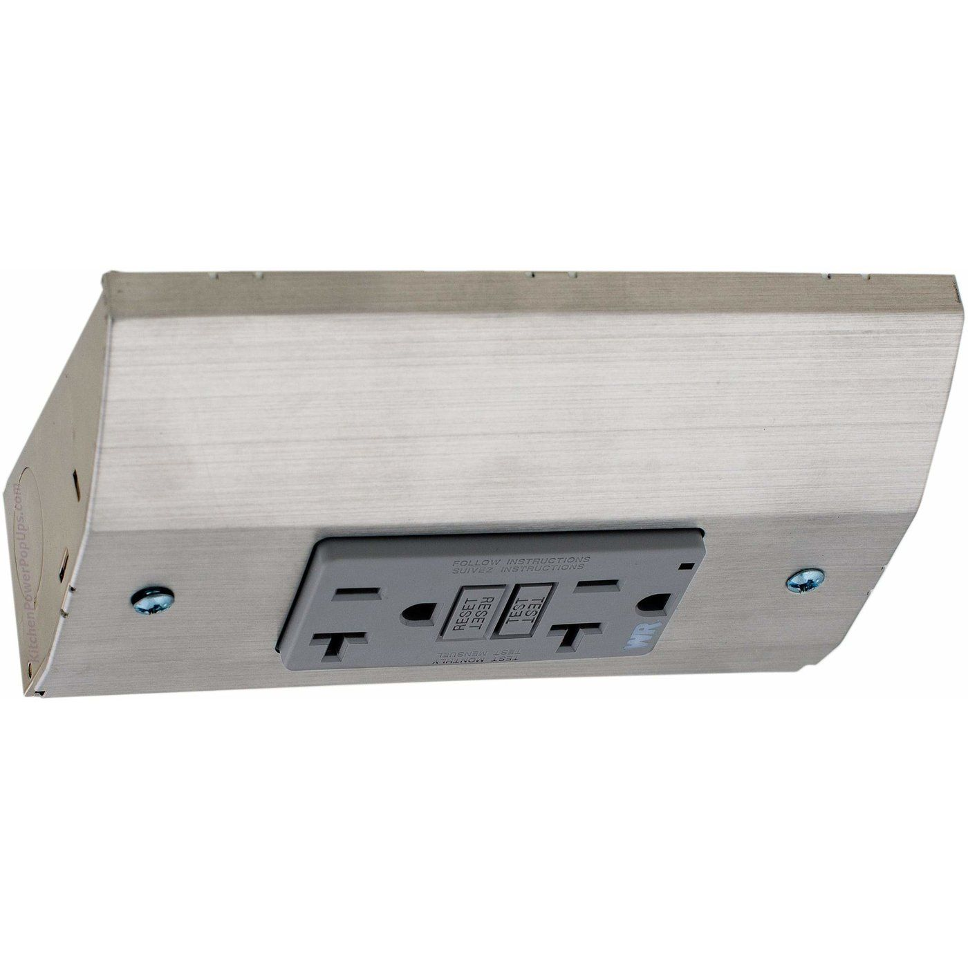 Under Cabinet Angled Power Strip Low Profile 20a Gfi 2 Plugs White Under Cabinet Outlets Power Strip Under Cabinet