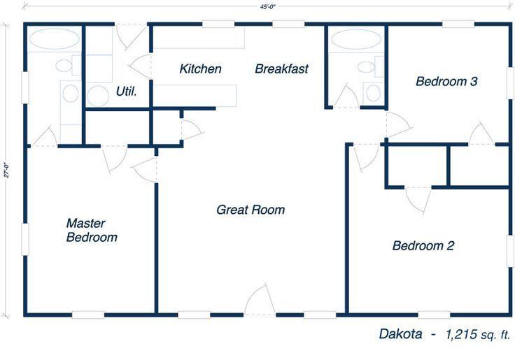 Image Result For 30x50 Metal Building Home Barndominium Floor Plans Bungalow Floor Plans Floor Plans
