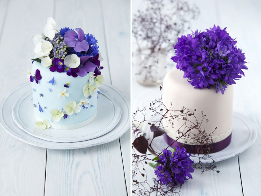 Fresh Flower Cakes Purple ©Helen Jermyn, 2011 Paletas de