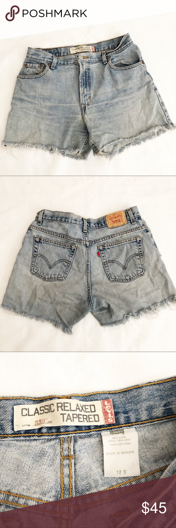 "Women's Distressed Levi Cutoff Shorts Women's Distressed Levi 550  Cutoff Shorts Size 12- EUC  Length from waist to hem 14"" Rise - 12"" Levi's Shorts Jean Shorts #denimcutoffshorts Women's Distressed Levi Cutoff Shorts Women's Distressed Levi 550  Cutoff Shorts Size 12- EUC  Length from waist to hem 14"" Rise - 12"" Levi's Shorts Jean Shorts #denimcutoffshorts"