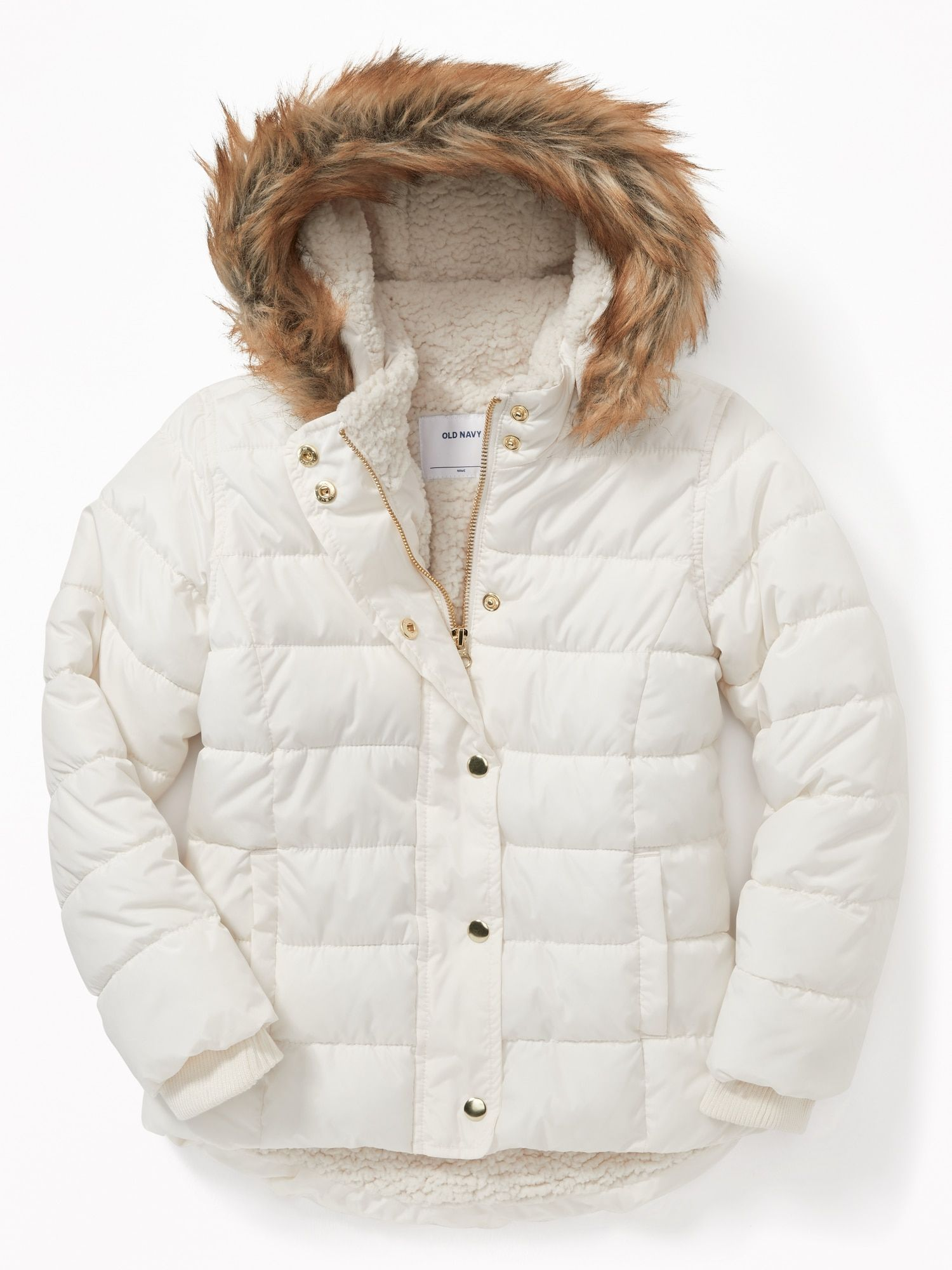 62b07a5d522e8 Girls Puffer Jacket | Faux Fur Hoodie | Old Navy | Fashion For Girls ...