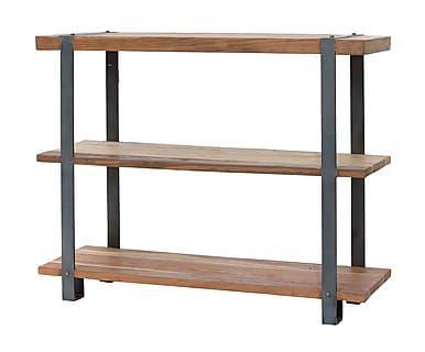 Estantería con 3 estantes en madera y hierro Factory - 120x40 cm