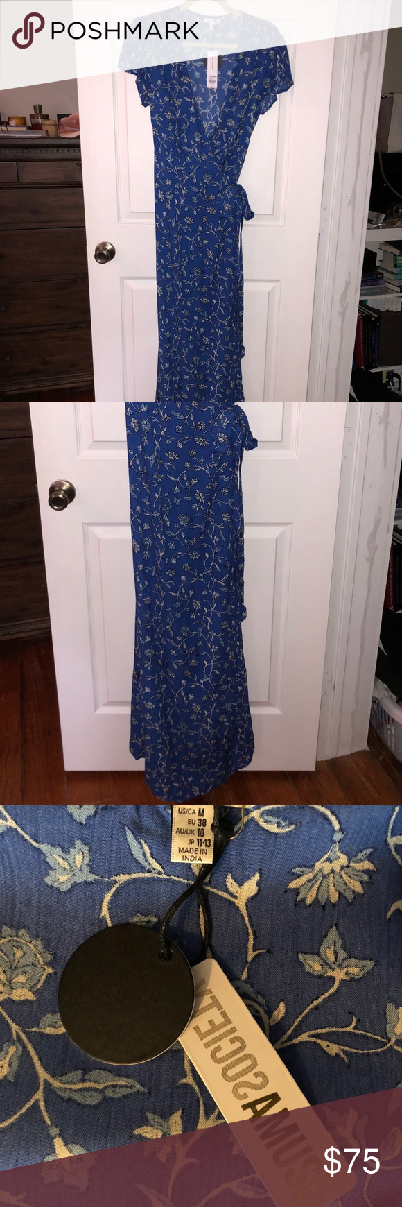 5275f3a613 AMUSE SOCIETY Summer Safari Maxi Dress size M New with tags never worn