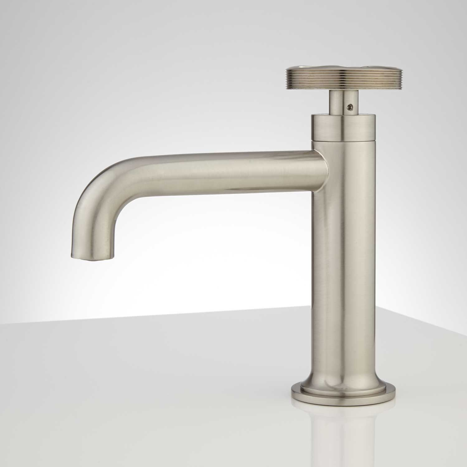 Edison Single Hole Brass Bathroom Faucet with Pop-Up Drain | Library ...