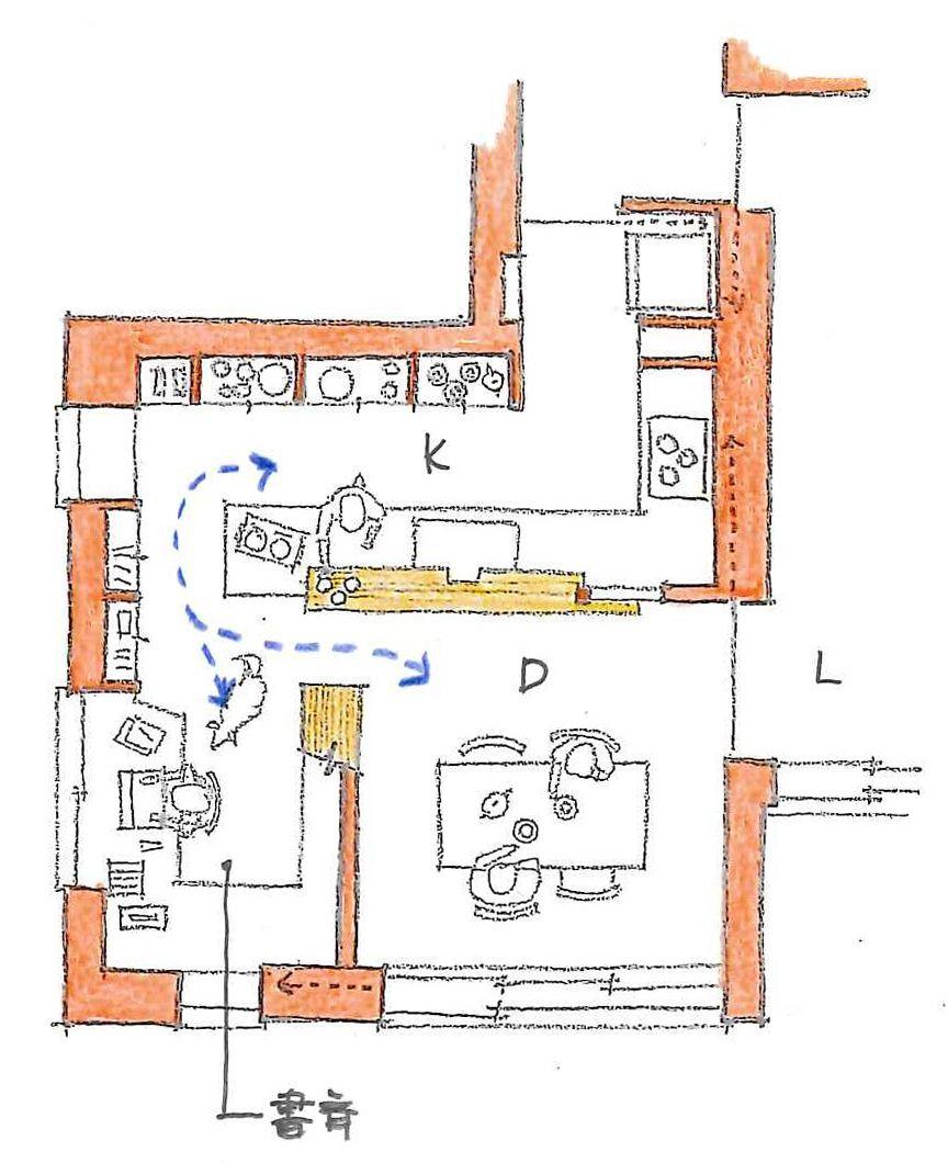 同居する 三つのスペース 間取り図 マイホーム 間取り 家