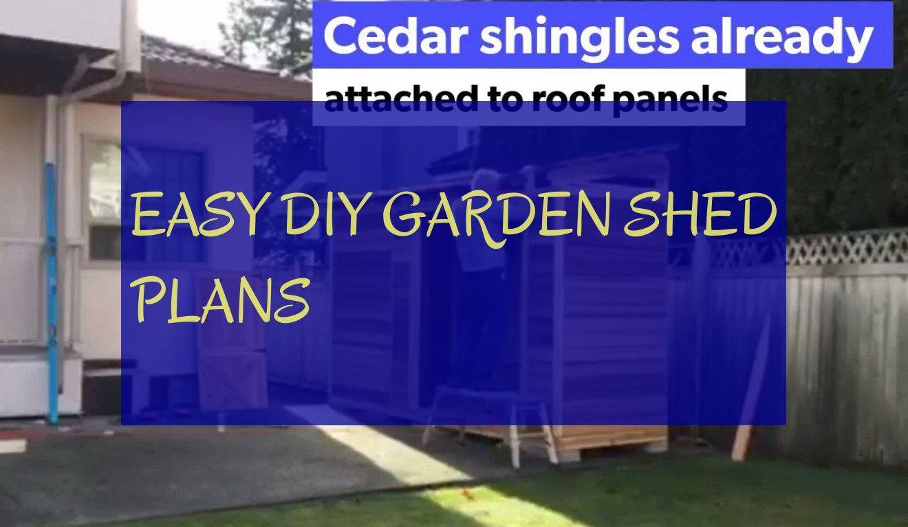 easy diy garden shed plans