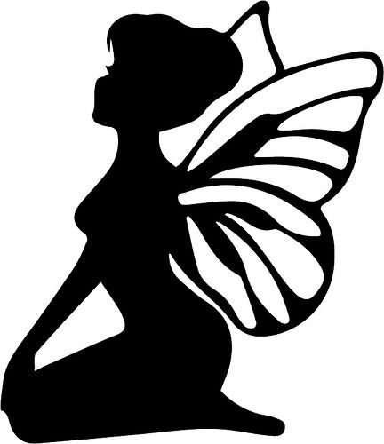 graphic regarding Fairy Silhouette Printable named Fairy with Wings clever silhouettes Fairy silhouette