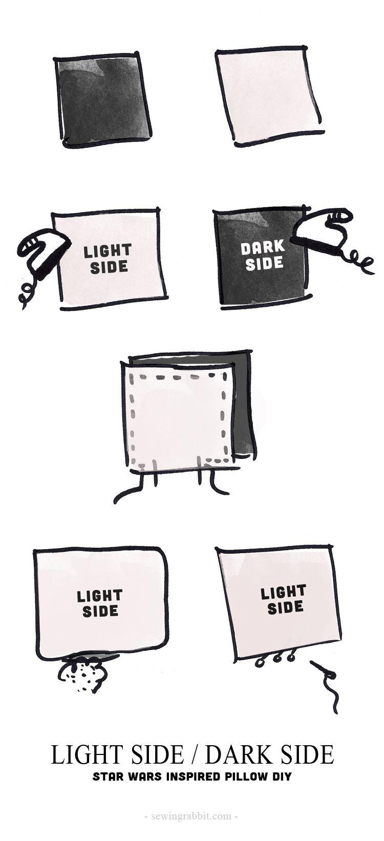 Reversible Light / Dark Side Pillow DIY