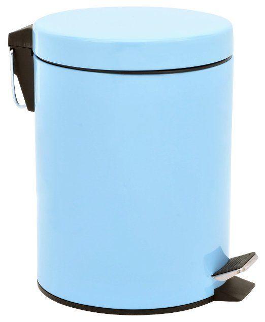 Amazon.com   5 Liter/1.3 Gallon Round Step Color Trash Can (Blue)   Kitchen  Waste Bins