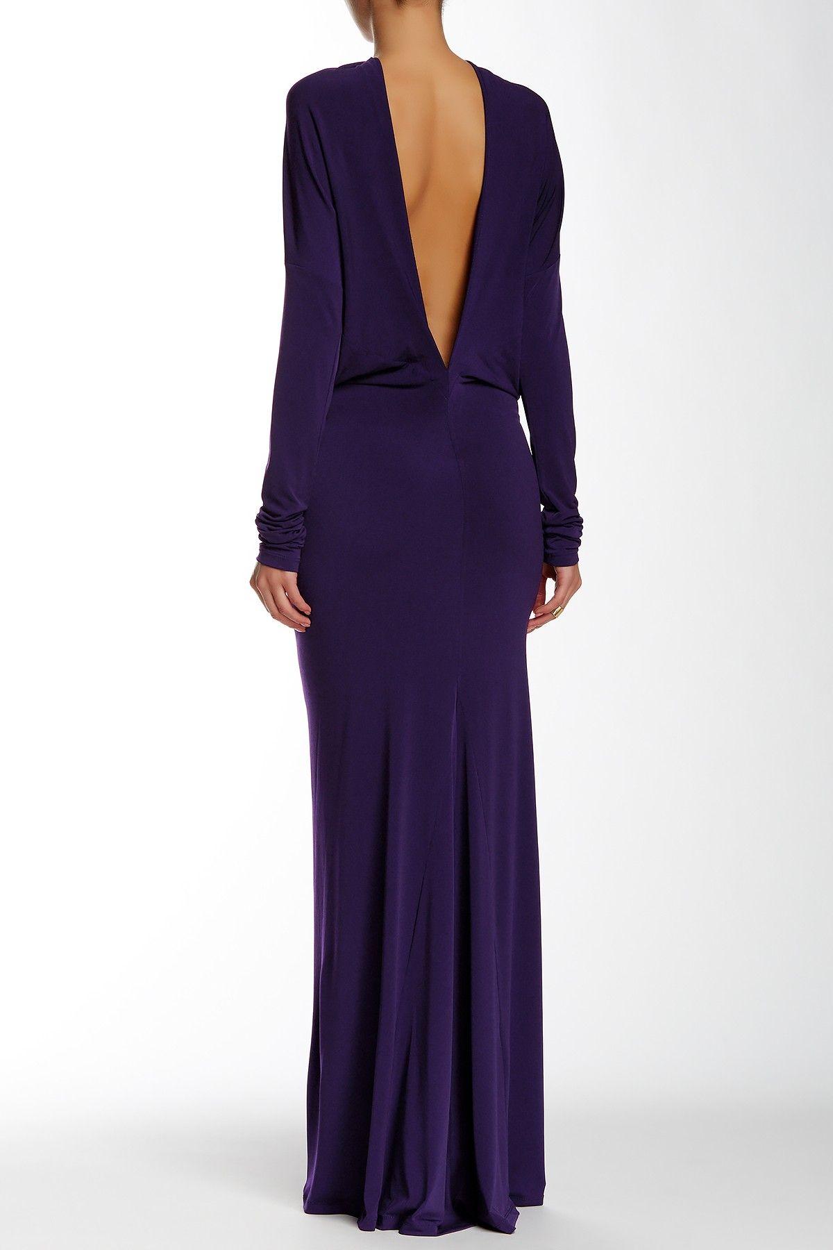 Dolman Sleeve Purple Formal Dresses