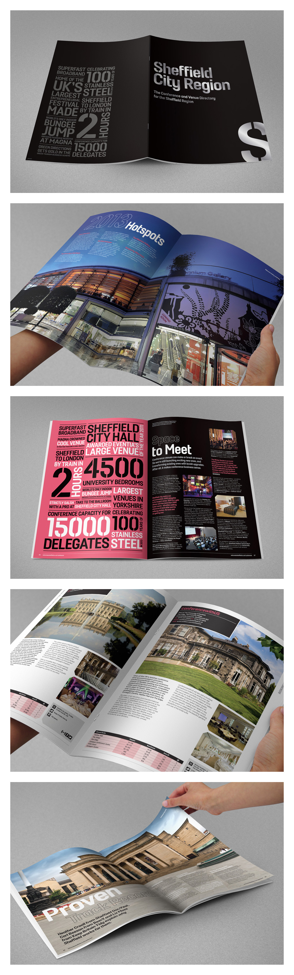 Digital spreads from the Conference and Venue Directory