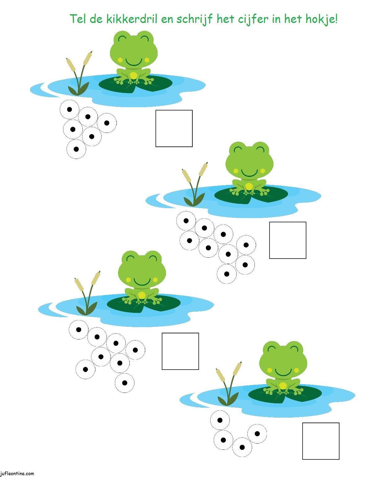 Tel de kikkertjes froschk nig pinterest fr sche vorschule und mathe - Frosch auf englisch ...