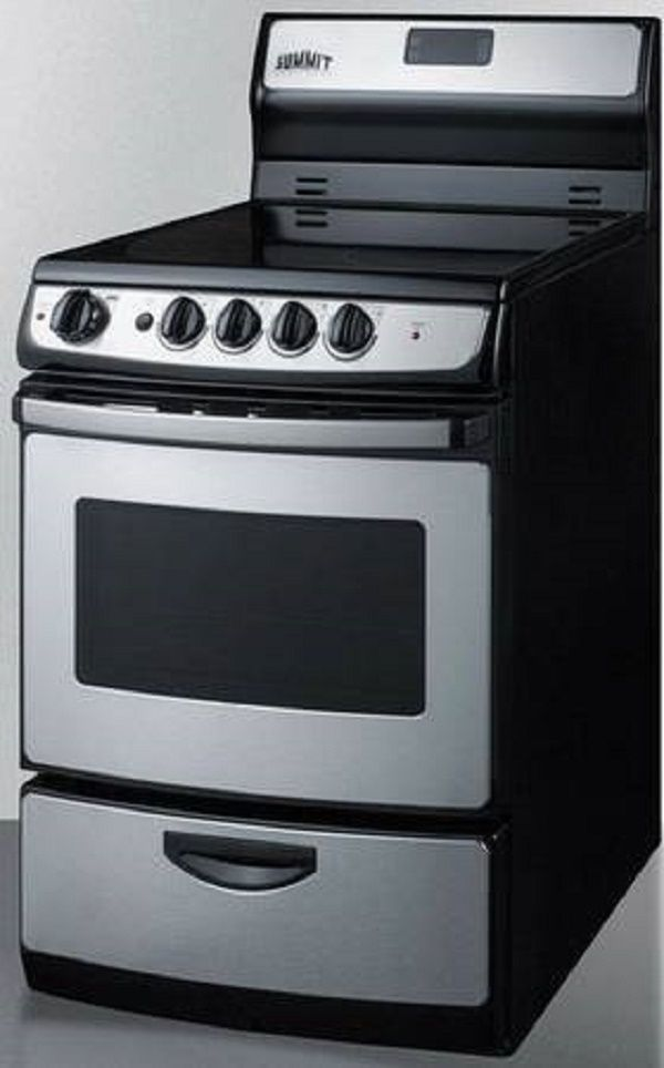 Summit Rex245ss 24 Inch Freestanding Smoothtop Electric Range Ceramic Cooktop Electric Range Oven Cleaning