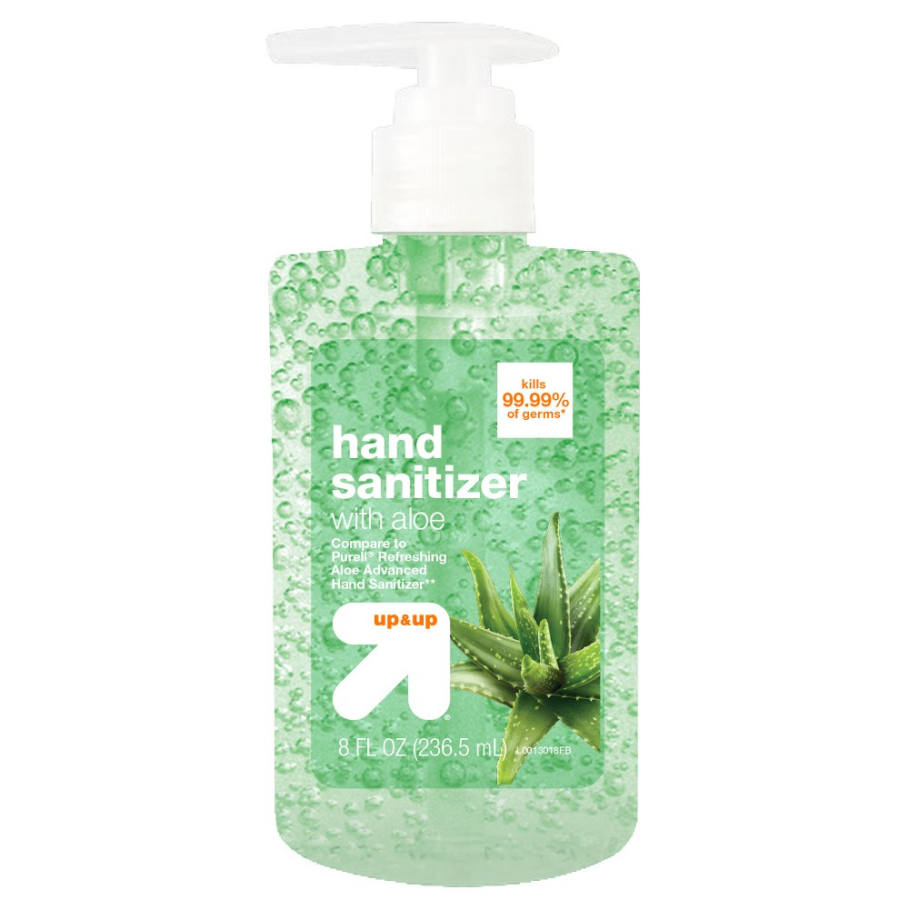 Aloe Hand Sanitizer Gel 8 Fl Oz Up Up Hand Sanitizer Aloe