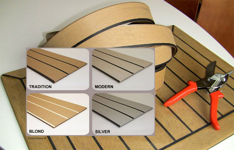 Long Life Teak Deck For Boats Interior Synthetic Pvc Soft