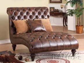 Acme Furniture 15035 Anondale Two Tone Pu Chaise Lounger In Espresso Color Furniture Acme Furniture Leather Chaise
