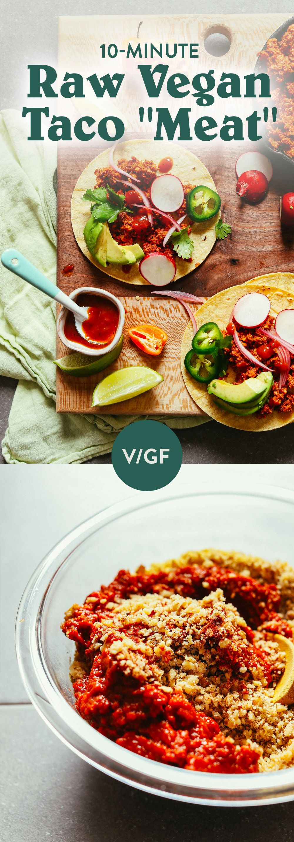 10 Minute Raw Vegan Taco Meat