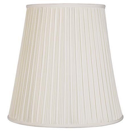 Creme Mushroom Pleat Lamp Shade 12x18x18 Spider K5507 Lamps Plus Lamp Shade Pleated Lamp Shades Large Lamp Shade