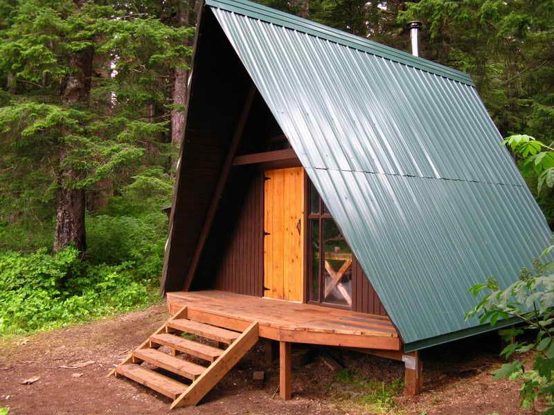 Architecture a frame cabin plans kits log small floor loft for Simple cabin plans with loft