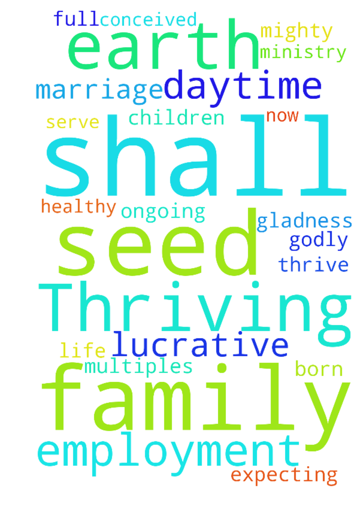Thriving, full-time, very lucrative employment, daytime, -  Thriving, full-time, very lucrative employment, daytime, now, steady and on-going unto marriage and family life and ministry. Expecting children to be conceived and be born and for our marriage and family to thrive! We shall have healthy, whole multiples! Our seed shall be mighty upon earth and our seed shall inherit the earth and be godly and serve the Lord with gladness!  Posted at: https://prayerrequest.com/t/7pT #pray #prayer…