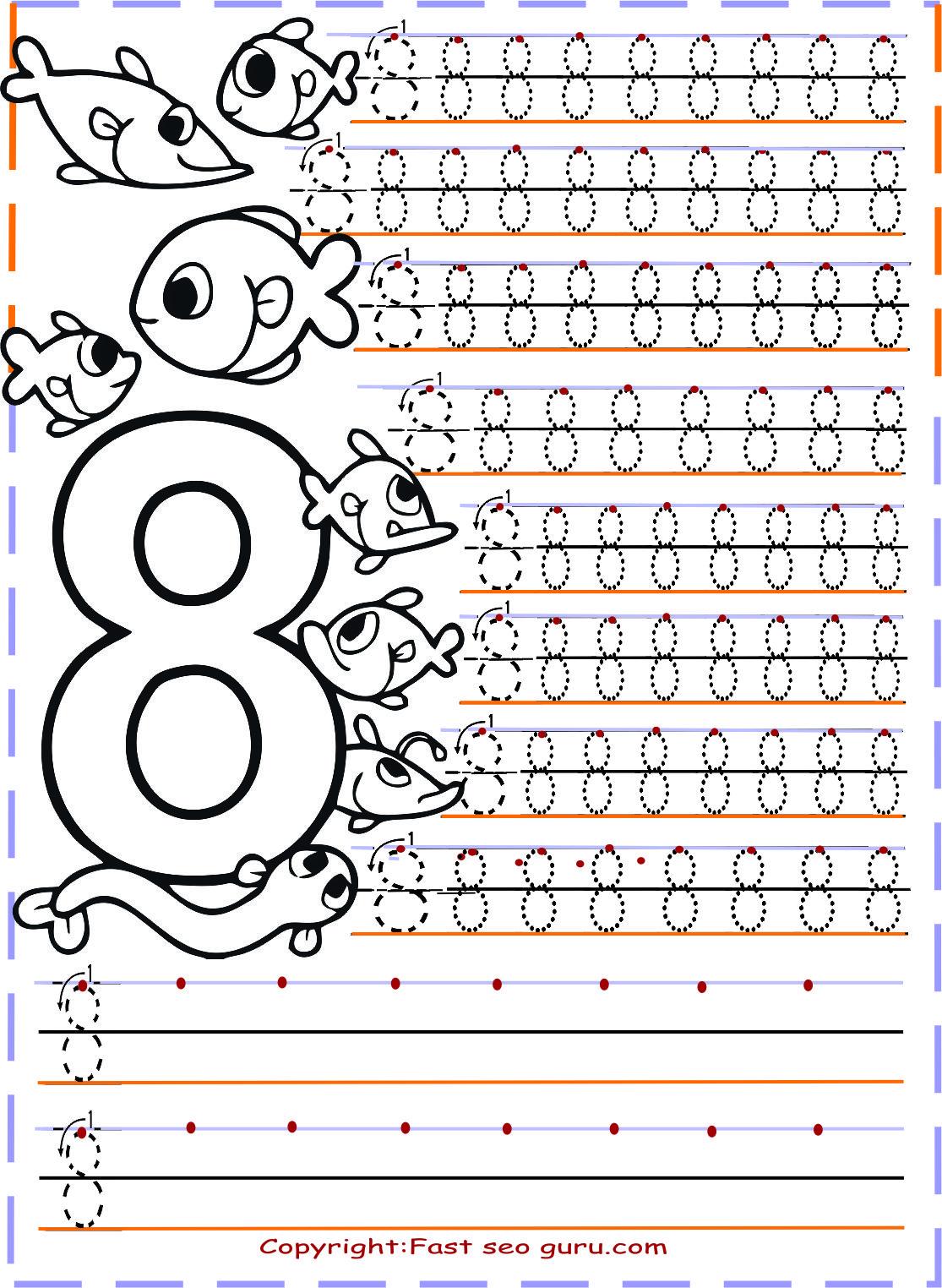 Number Tracing Worksheets Say Cal Ma Sayfalar