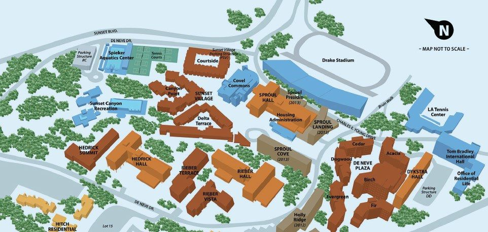 UCLA Residential Community Map (click to zoom)   UCLA ...