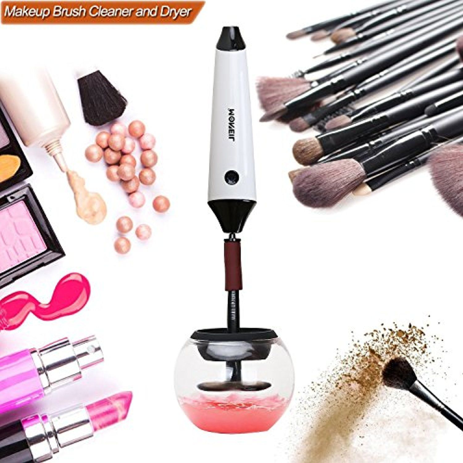 Moneil Makeup Brush Cleaner with USB Charging Station