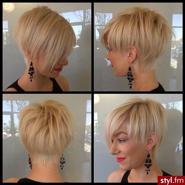 Fryzury Krótkie Na Co Dzień Proste Rozpuszczone Blond Wlosy