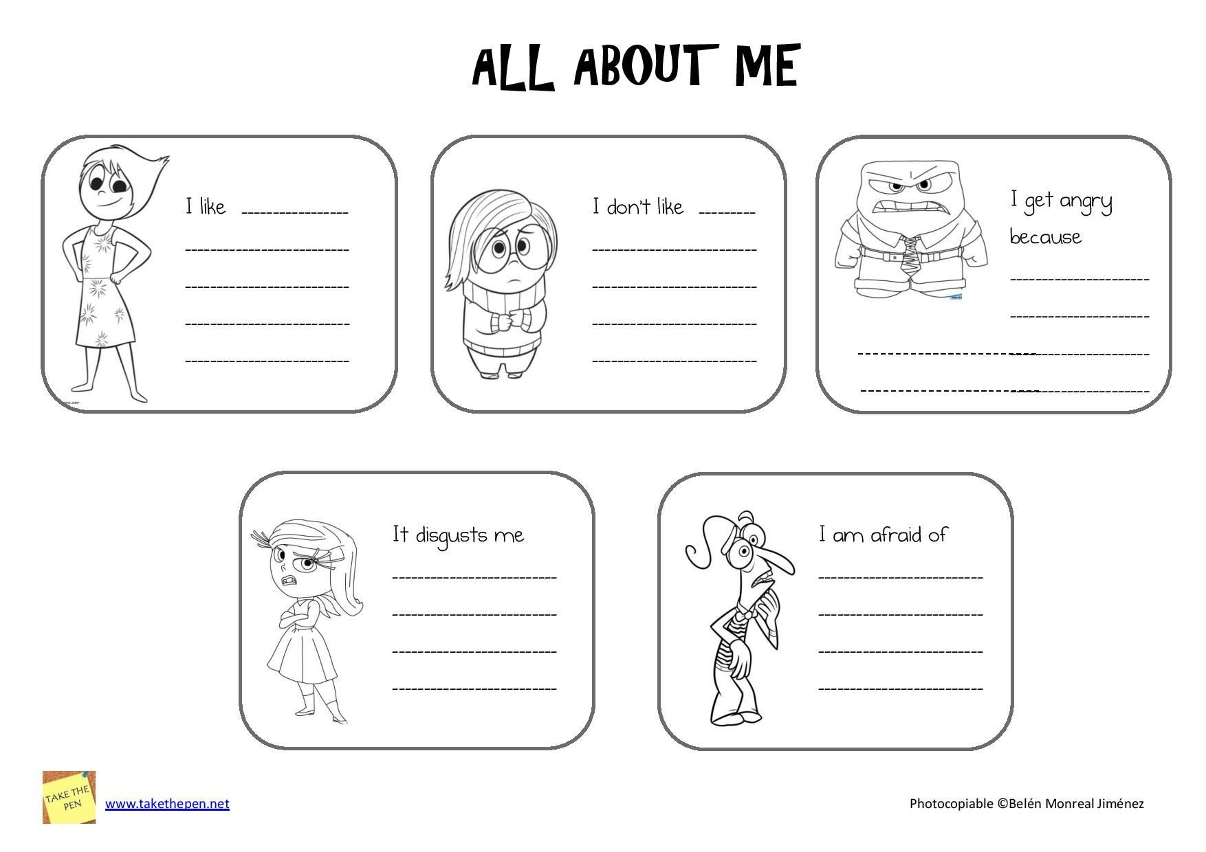 Image Result For Inside Out Worksheets For Therapy