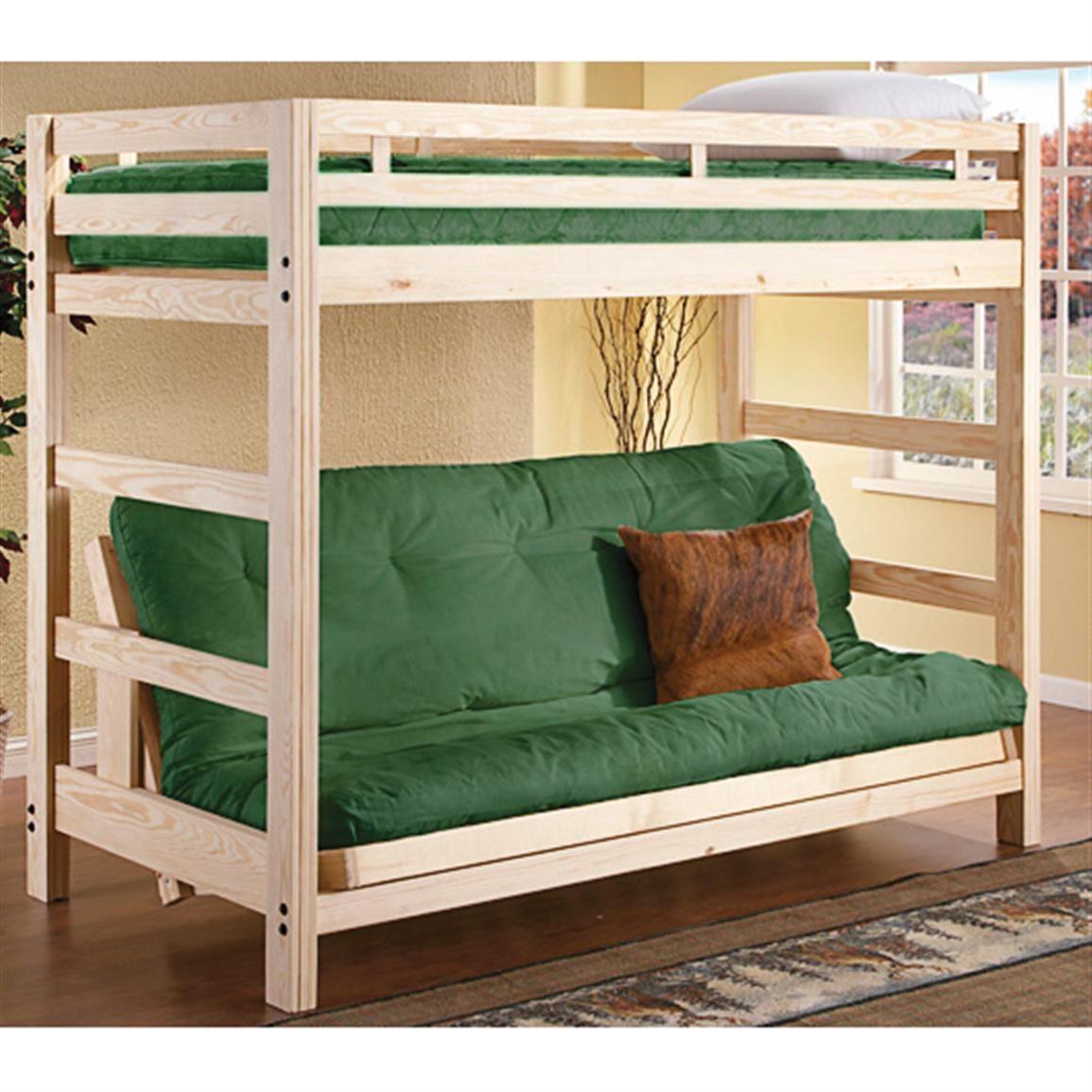 Lakeland mills twin over queen bunk bed amp reviews wayfair - Collegiate Liberty Futon Bunk