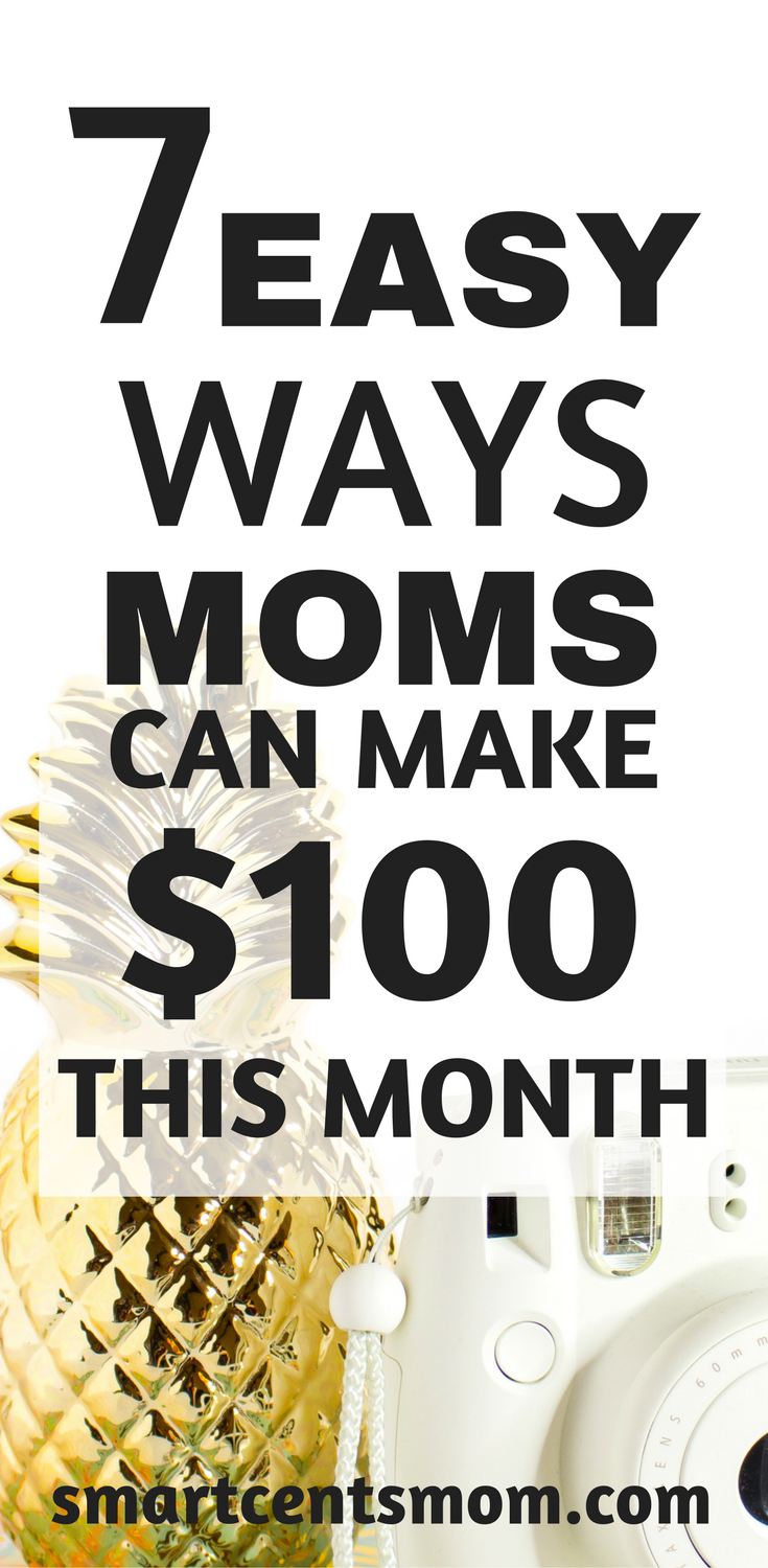 7 Easy Ways to Make 100 Dollars this Month   Work at home good links ...