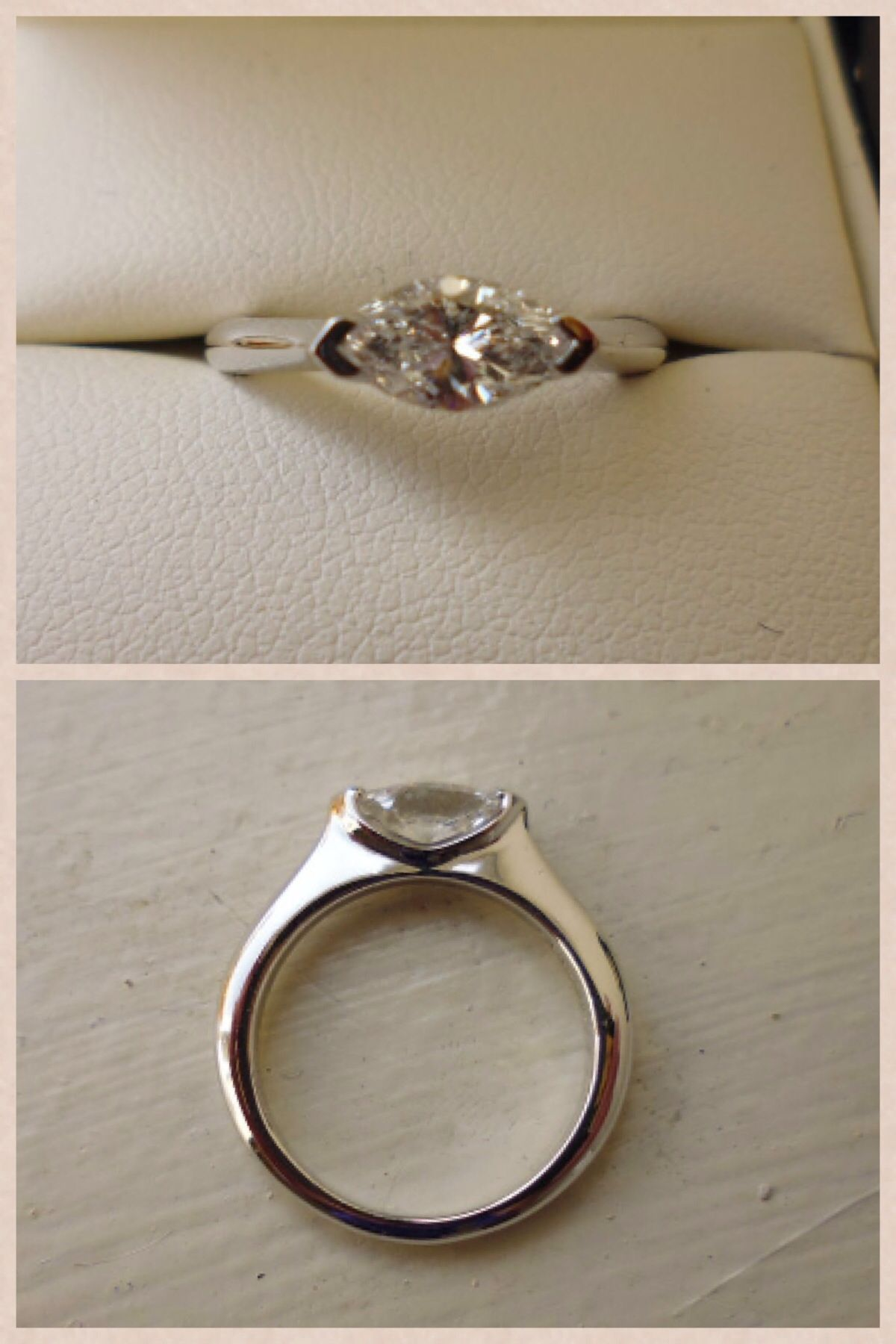Marquise diamond setting ideas - Another Possible Setting Marquise Diamond East West Setting In White Gold