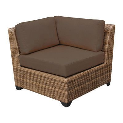 TK Classics Laguna Corner Sofa with Cushions Fabric: Cocoa