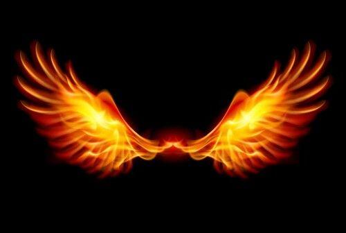 Wings Of Fire Gambar Sayap Sayap Malaikat Ilustrasi Digital