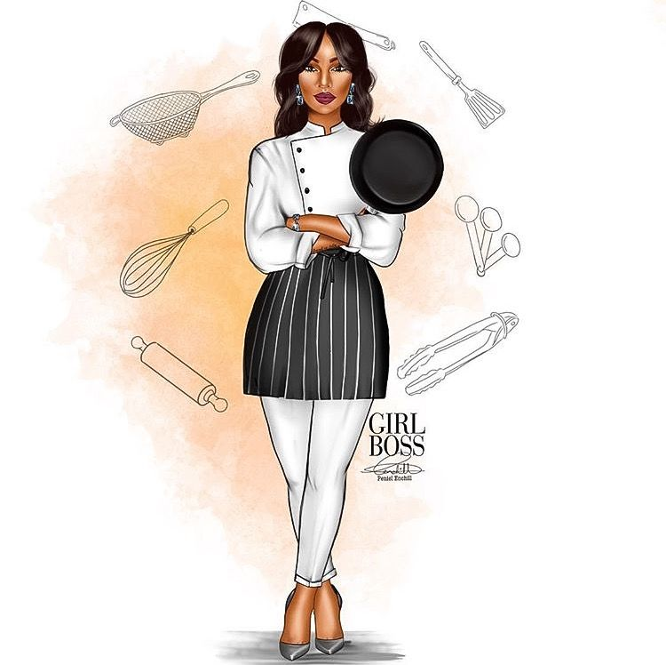 Pin By Kevin On In Living Color Chef Logo Female Chef Black Women Art