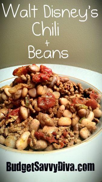 c61e6302a Walt Disney's Chili and Beans | Recipe | Food | Pinterest | Recipes ...