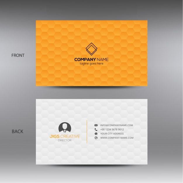 Download Orange And White Business Card For Free Vector Business Card Name Card Design Visiting Card Creative