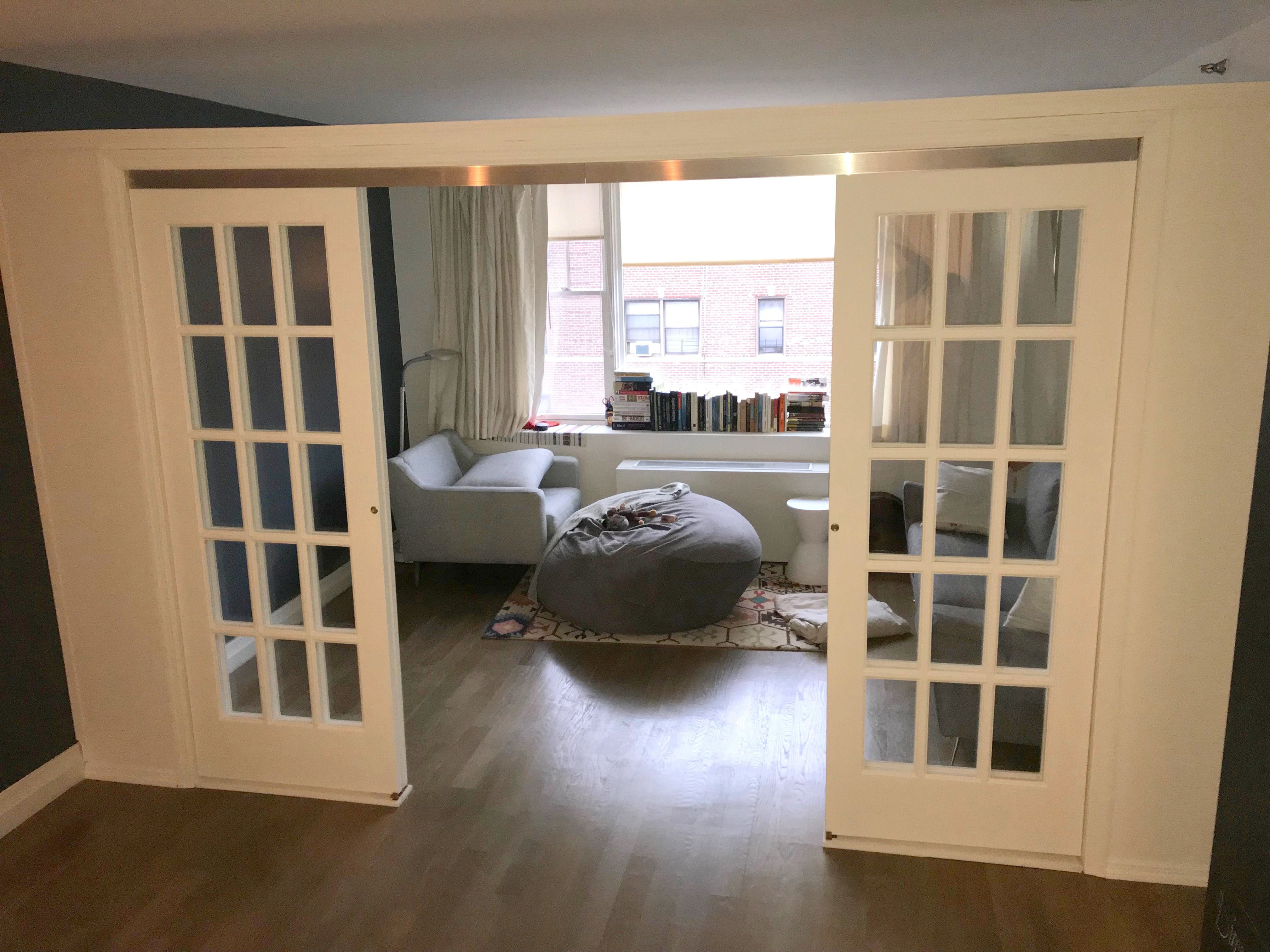 Sliding Room Divider With White Shaker Clear Glazed Doors Room Divider Doors French Doors Interior Cheap Room Dividers